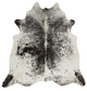 Real Cowhide rug Salt and Pepper Black and White