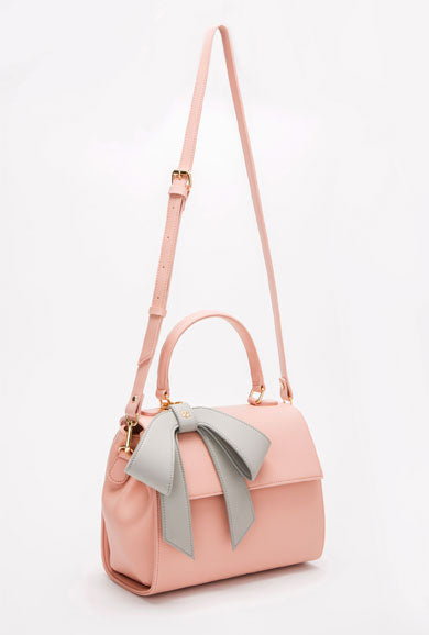 Cottontail Bag - Light Pink with Gray Bow