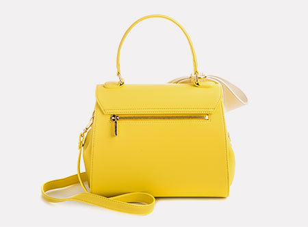 Yellow Cottontail Bag from Behind