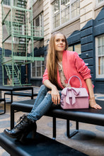 Cottontail PE Raspberry Vegan Shoulder Bag - Gunas New York Model 2