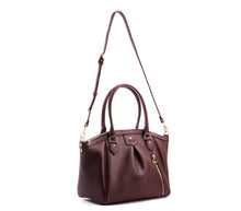 Madison PE Burgundy Vegan Leather : Gunas New York 4