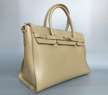 Taupe HENRY Vegan Shoulder Bag - Gunas New York 2