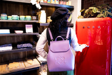 Gunas New York Model with Purple Livia Backpack + Shoulder Bag 3