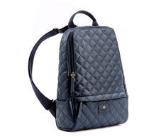 GUNAS New York Navy Cougar Quilted Vegan Leather Backpacks 2