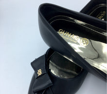 Black  Vegan Leather Swan Shoes - Gunas New York 5