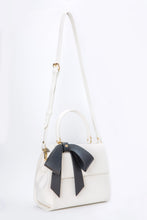 Cottontail PE White with Black Bow Vegan Shoulder Bag - Gunas New York 3
