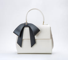 Cottontail PE White with Black Bow Vegan Shoulder Bag - Gunas New York 1