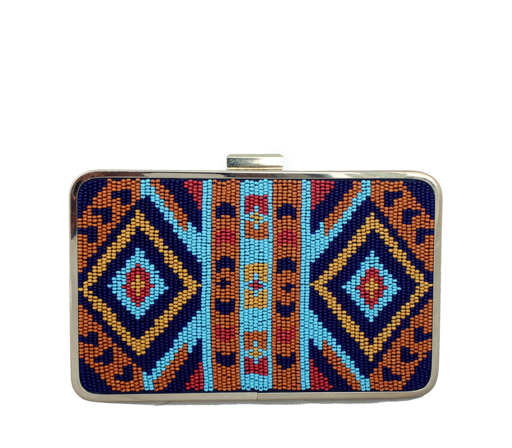 Mayan vegan clutch bag