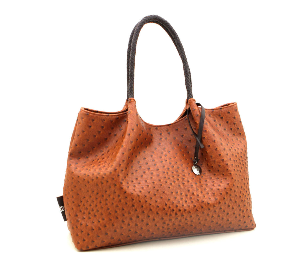 Naomi vegan shopper top handle tote