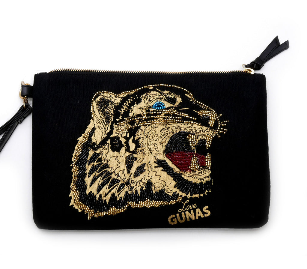 Fierce vegan power clutch bag