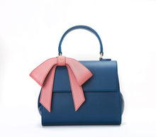 Cottontail - Navy+Mauve Vegan Leather Bag
