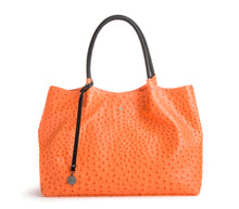 Naomi - Orange Vegan Leather Tote Bag