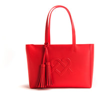 Tippi - Red Vegan Leather Tote Bag