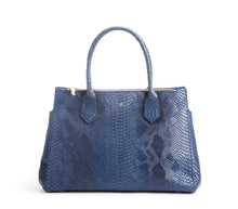 Koko Blue Snake Satchel and Handcrafted Work Bag: Gunas New York 1