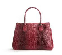 Koko Red Snake Satchel and Handcrafted Work Bag: Gunas New York 1