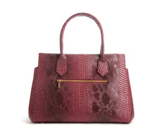 Koko Red Snake Satchel and Handcrafted Work Bag: Gunas New York 4