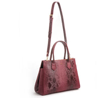 Koko Red Snake Satchel and Handcrafted Work Bag: Gunas New York 2