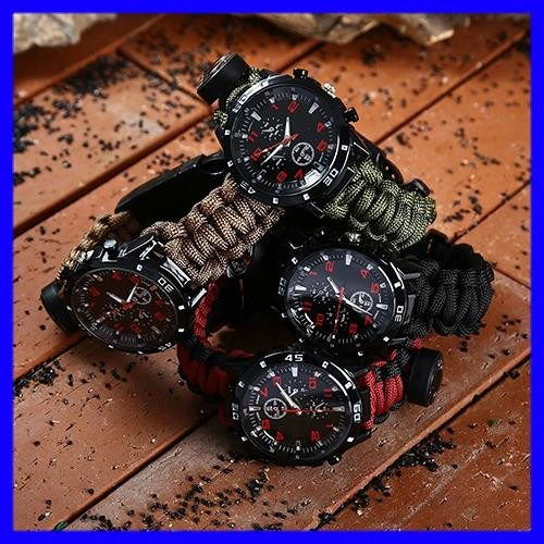 6 In 1 Tactical Paracord Watch