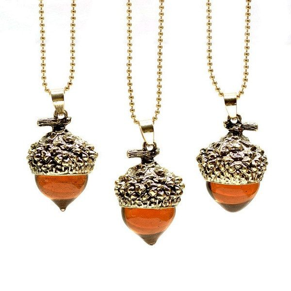 Acorn Water Drop Necklace
