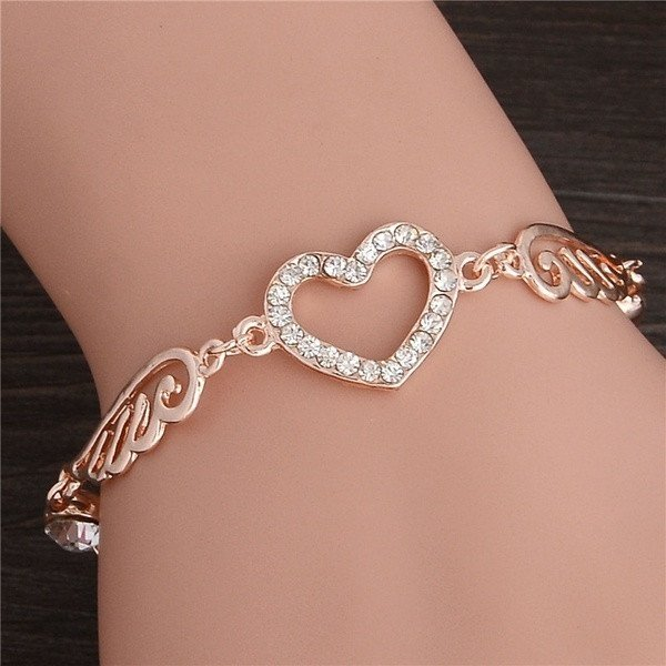 Angel Wings Heart Bracelet