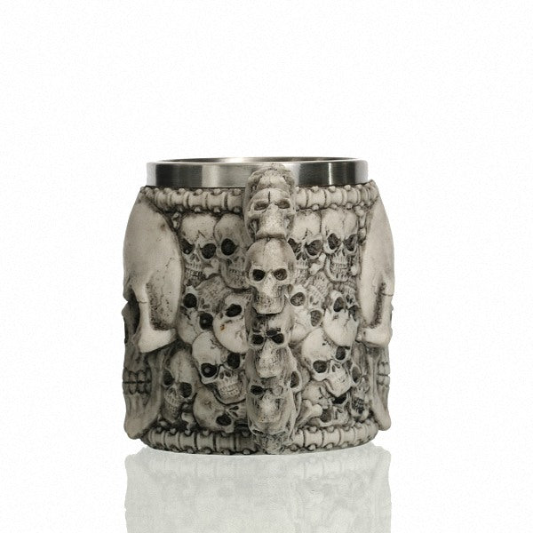 """Bad To The Bone"" Skull Mug"