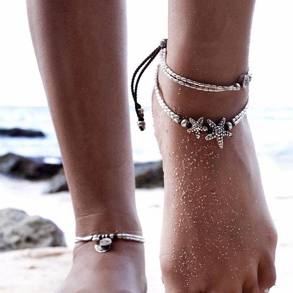Bohemian Starfish Summer Anklet