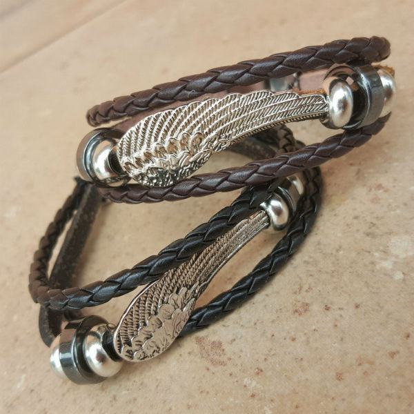 Braided Angel Wing Bangle