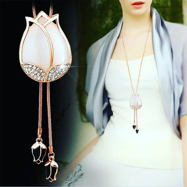 Chain Tassel Tulip Necklace