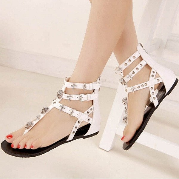 Cross And Skull Sandals