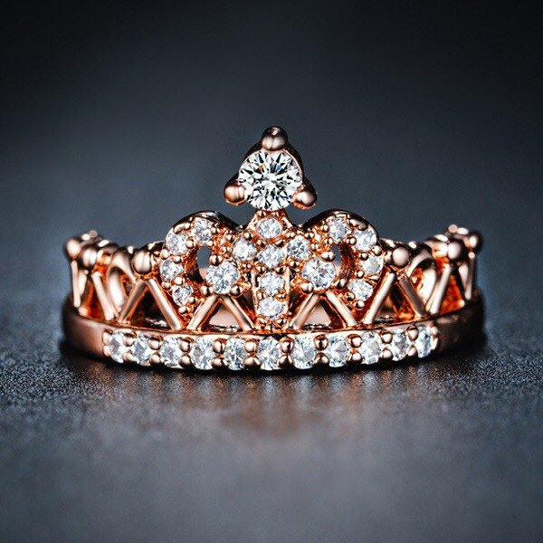 Crystal Studded Crown Ring