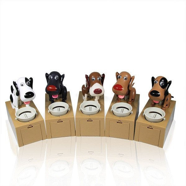 Cute Moving Dog Coin Bank