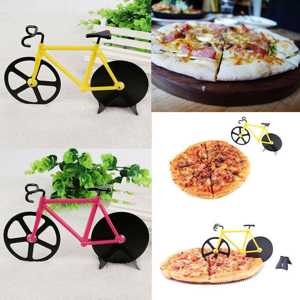 Dual Stainless Steel Bicycle Pizza Cutter