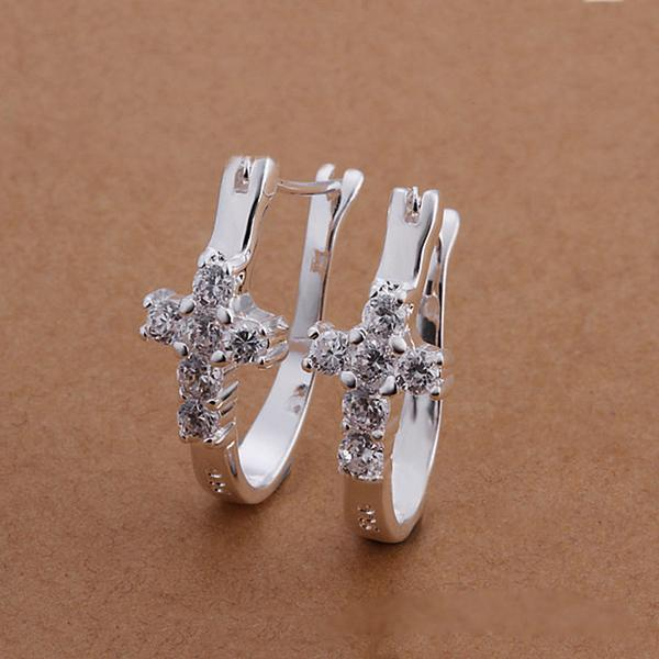 Earring - Sterling Silver Cross Earrings