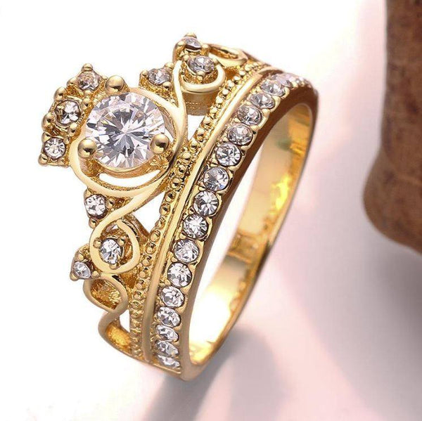 Elegant Crown Ring