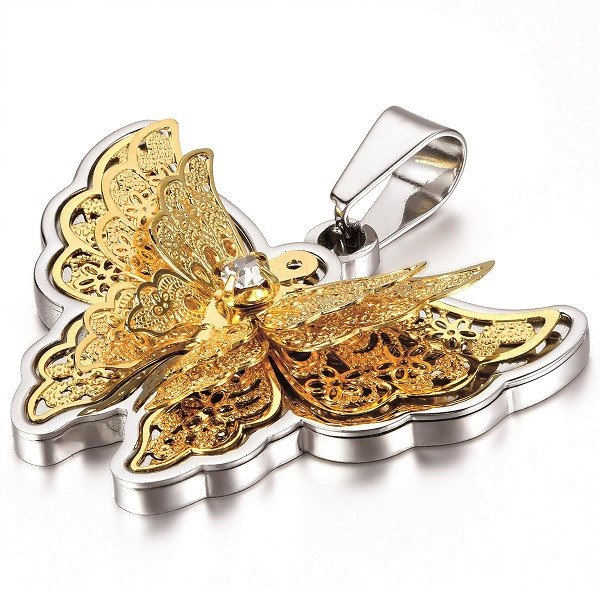 Elegant Stainless Steel Butterfly Necklace