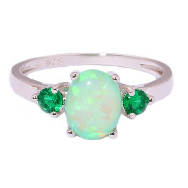 Emerald Green Opal Ring