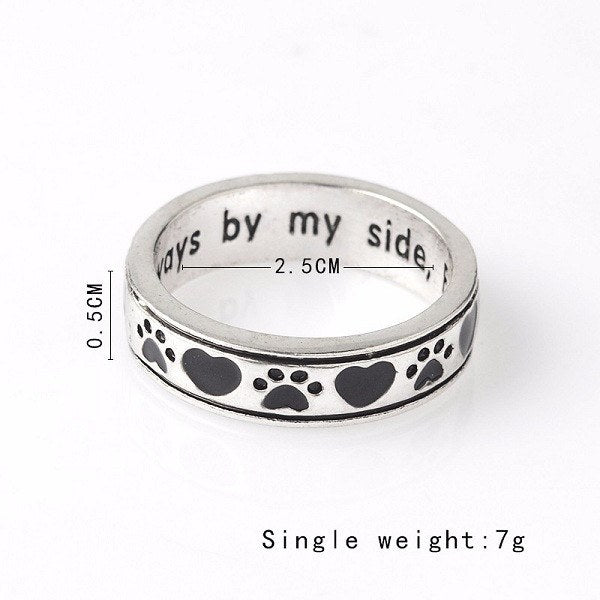 "Engraved ""Always In My Heart, Forever By My Side"" Ring"