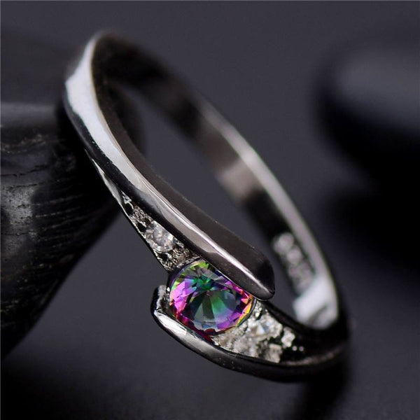 Fine Colorful Crystal Ring