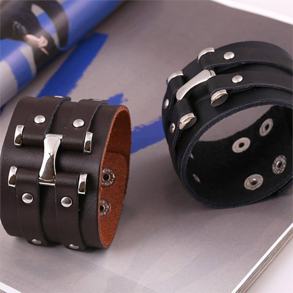Genuine Leather Punk Bracelet