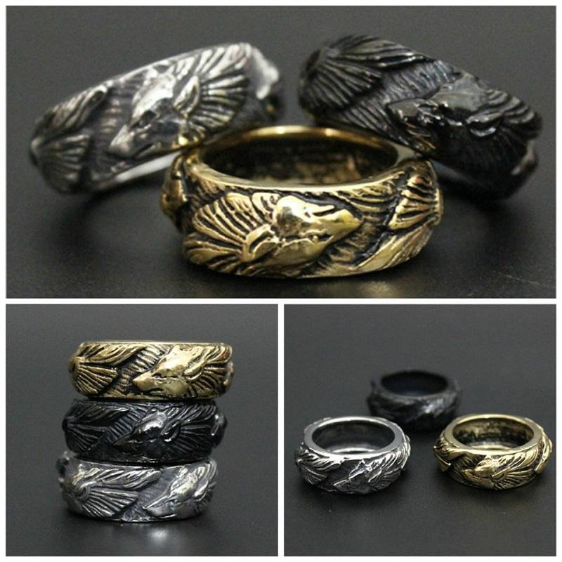 Golden, Silver, Black Color Fenrir Wolf Ring