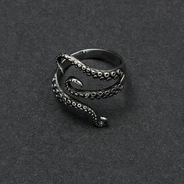 Gothic Resizable Octopus Ring