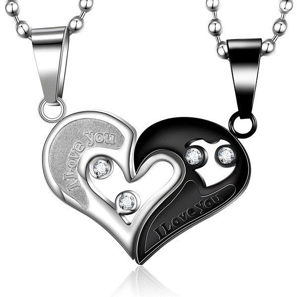Heart Titanium Steel Lover Necklace
