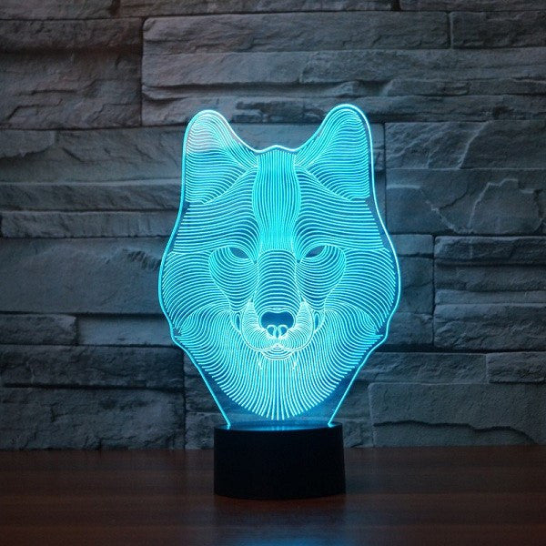 Home - 3D Wolf Table Lamp