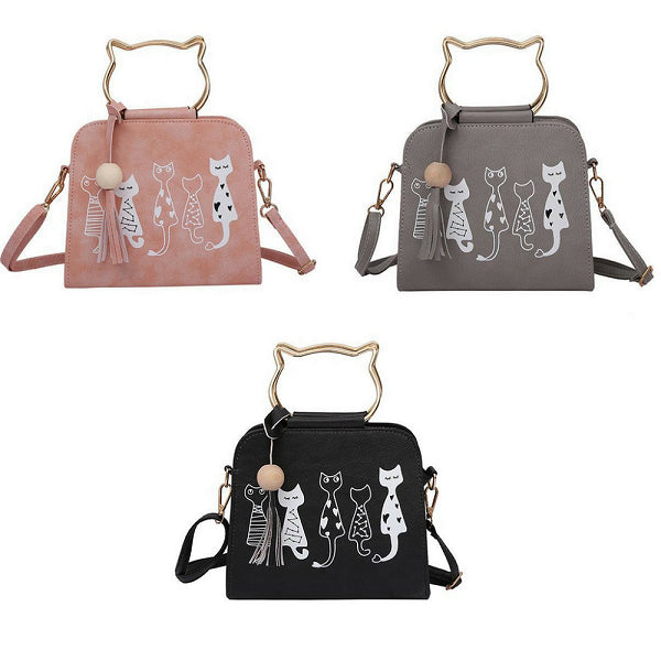 Luxury 5 Cat Friends Handbag
