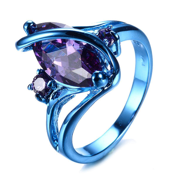 Marquise Blue Ring
