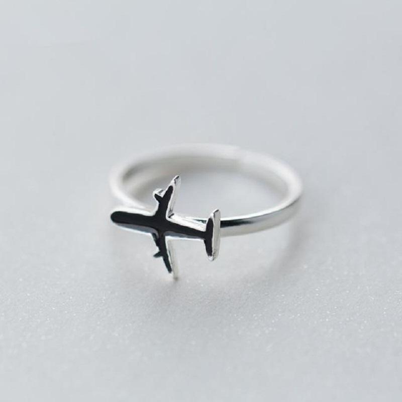 Mug - Elegant Sterling Silver Airplane Ring