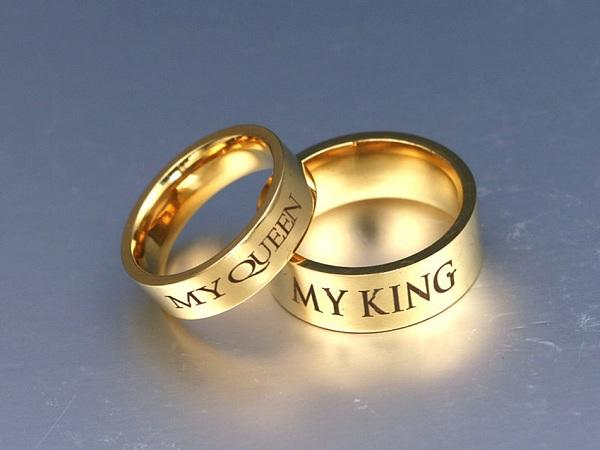 """MY QUEEN & MY KING"" Ring"