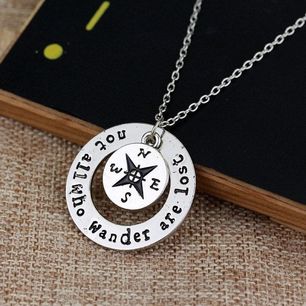 'Not All Who Wander Are Lost' Necklace