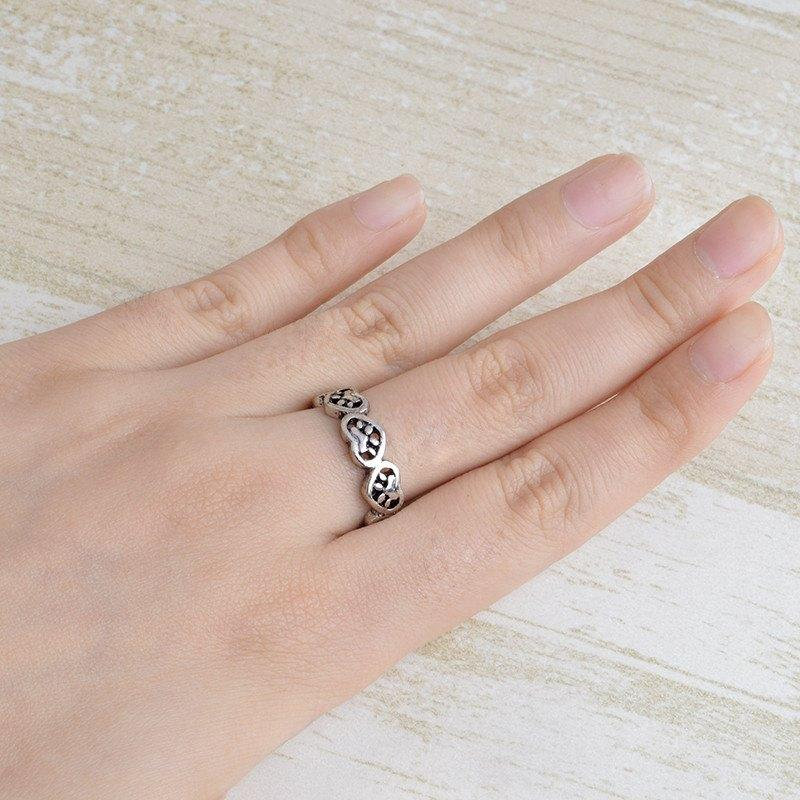 Paw-Stamped Heart Ring