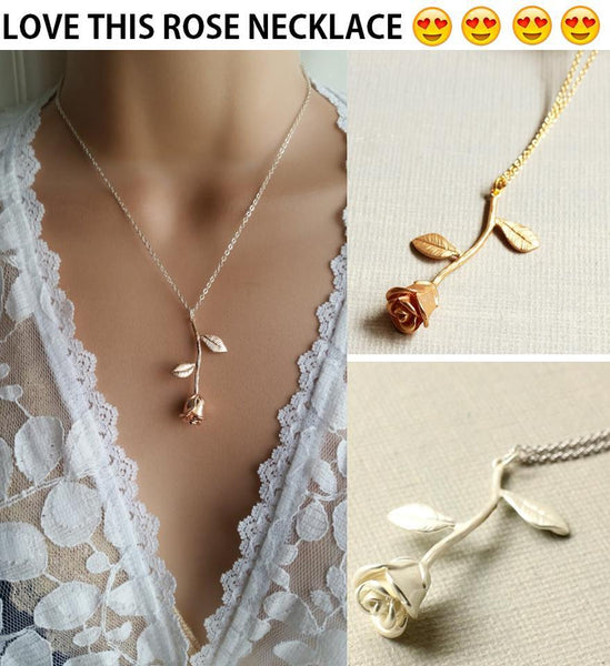 Pendant Necklaces - Rose Pendant Necklace